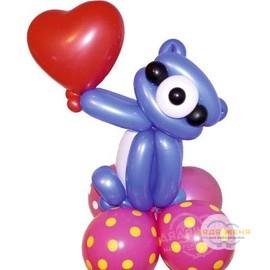 """Фигура """"Мишка с сердцем"""""""