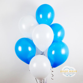 Белый- голубой