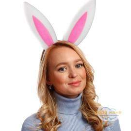 """Карнавальный ободок """"Уши зайца"""""""
