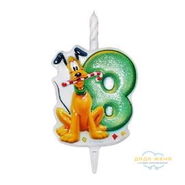 Свеча в торт Микки Маус. Цифра 8