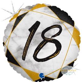 Милар с цифрой Восемнадцать Черный Мрамор
