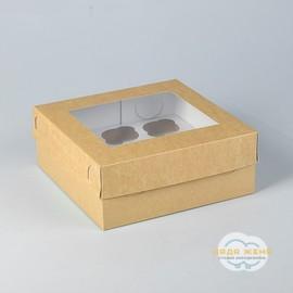 Коробка крафт с окном