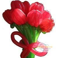 Букет цветов Красный тюльпан