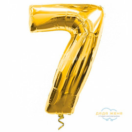 Цифра семь золотая