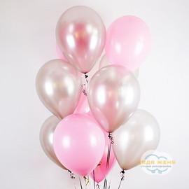Розовый- серебро