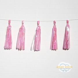 Тассел гирлянда Нежно розовая перламутр