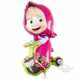 Милар Маша на велосипеде