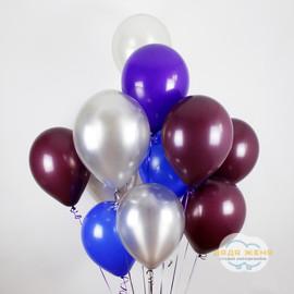 Серебро- синий- фиолетовый- бордовый