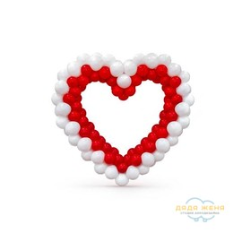 Плетеное сердце (2 ряда)
