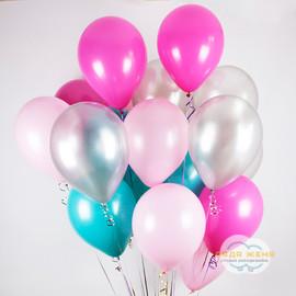 Розовый- фуксия- серебро- бирюзовый