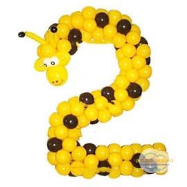 Цифра- жираф из шаров
