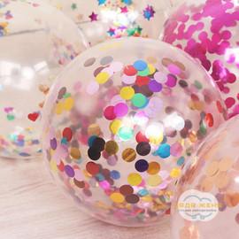 Добавить в шарик 30 см конфетти (с обработкой)